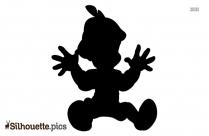 Stylish Cartoon Boy Silhouette Image