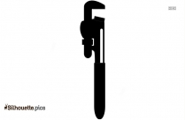 Pipe Wrench Clip Art Silhouette
