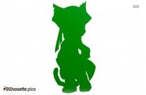 Cartoon Zombie Cat Silhouette Drawing
