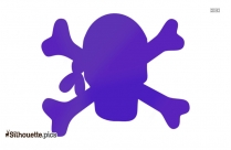 Pirate Skull And Crossbones Outline Silhouette