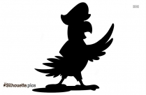 Pirate Girl With Telescope Silhouette