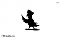 Boy With Parrot Silhouette