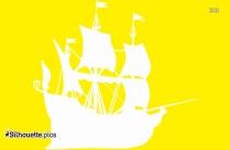 Pirate Ship Silhouette Clip Art Free Download