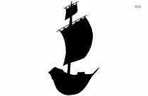 Boat Cartoon Silhouette Vector And Graphics