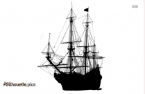 Pirate Ship Silhouette Clip Art