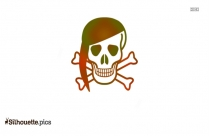 Pirate Skull Silhouette Vector Free