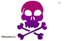 Pirate Skull And Bones ClipArt Silhouette