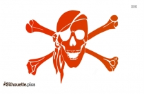 Pirate Cross Bones Clip Art Silhouette