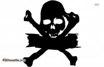 Pink Pirate Cross Bones Silhouette