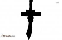 Mameluke Sword Silhouette Clip Art
