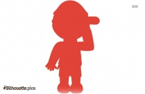 Cartoon Boy With Ball Silhouette