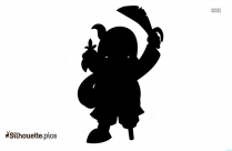Pirate With Telescope Clipart Silhouette
