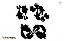 Short Letter Symbols Silhouette Illustration