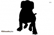 American English Coonhound Silhouette