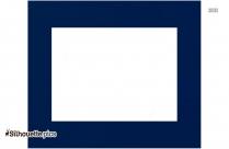 Plain Blue Rectangular Border Silhouette Image