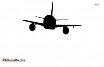 Cartoon Plane Silhouette Image