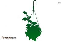 Hanging Plant Clipart Silhouette