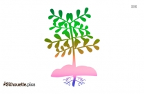 Growing Plant Clipart Silhouette