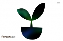 Plant Icon Silhouette Image And Vector
