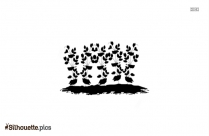 Planting Silhouette Vector