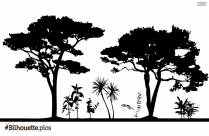 Trees Silhouette Illustrator