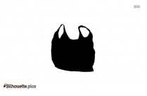 Black Plastic Bag Background Silhouette