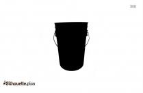 Bucket Silhouette Background
