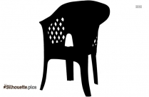 Plastic Chair Silhouette Background