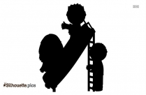 Seesaw Children Silhouette