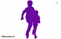 Playing Soccer Silhouette Icon