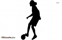Mother Playing Soccer Silhouette Drawing
