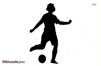 Soccer Player Silhouette Drawing