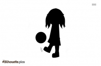 Girls Playing Soccer Silhouette Icon