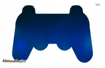 game controller silhouette vector free