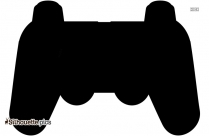 Cartoon Video Game Controller Silhouette Pic