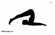 Rabbit Pose Silhouette Drawing