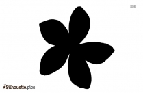 Cartoon Plumeria Silhouette