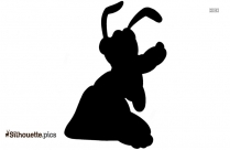 Goofy Silhouette Drawing