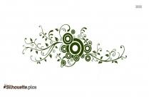 Floral Flourish Design Drawing Silhouette