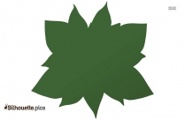 Poinsettia Flower Silhouette Background