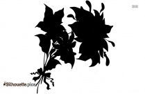 Poinsettia Plant Silhouette Free Vector Art