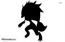 Mega Eevee Silhouette Illustration