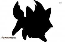 Pokemon Zorua Silhouette Icon