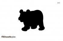 Walking Polar Bear Silhouette For Download