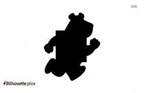 Cartoon Running Man Silhouette