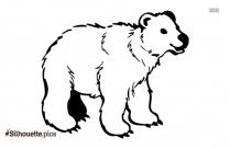 Black Polar Bear Sitting Silhouette Image