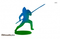 Golf Player Outline Drawing