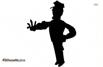 Police Officer Clipart, Silhouette