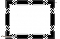 Rectangle Border Silhouette Clipart