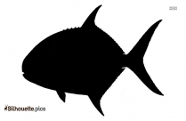 Black Giant Trevally Fish Silhouette Image